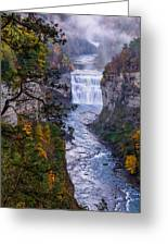 Middle Falls Letchworth State Park Greeting Card by Dick Wood