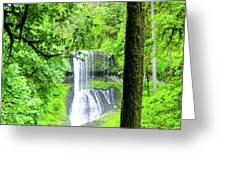 Middle North Falls 5 Greeting Card