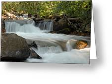 Middle Provo River Cascade Greeting Card