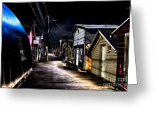 Midnight At The Boathouse Greeting Card