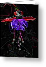 Midnight Bloom Greeting Card by Torie Tiffany
