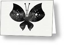 Midnight Butterfly 2- Art By Linda Woods Greeting Card