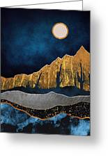 Midnight Desert Moon Greeting Card