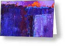 Midnight Glow Abstract Greeting Card