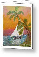 Midnight In The Gulf Of Mexico Greeting Card