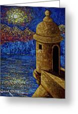 Midnight Mirage In San Juan Greeting Card
