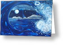 Midnight Moon Greeting Card