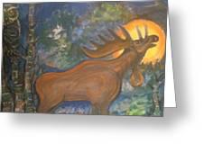 Midnight Mountain Majic 2 Greeting Card