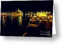 Midnight Sail Greeting Card