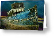 Midnight Shipwreck Greeting Card
