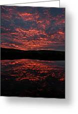 Midnight Sun In Norbotten Greeting Card