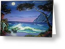 Midnight Tropicale Greeting Card