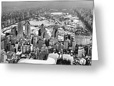 Midtown And Central Park View Greeting Card