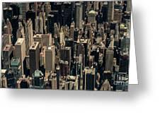 Midtown Manhattan Skyline Aerial Greeting Card