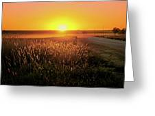Midwest Sunset Greeting Card