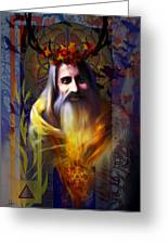 Midwinter Solstice Fire Lord Greeting Card