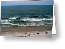 Mighty Ocean Aerial View Greeting Card