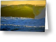 Mighty Ocean At Sunrise Greeting Card