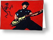 Mike Ness Greeting Card by Steven Sloan