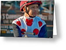 Mike Smith- Horse Jockey Greeting Card