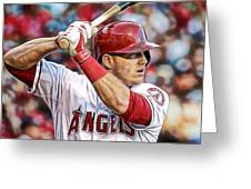 Mike Trout Baseball Greeting Card