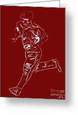 Mike Trout Home Run Trot Greeting Card