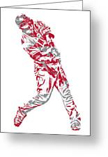 Mike Trout Los Angeles Angels Pixel Art 20 Greeting Card