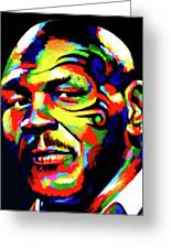 Mike Tyson Abstract Greeting Card