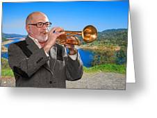 Mike Vax Professional Trumpet Player Photographic Print 3761.02 Greeting Card