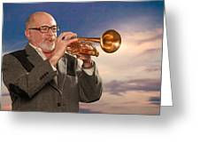 Mike Vax Professional Trumpet Player Photographic Print 3765.02 Greeting Card