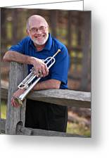 Mike Vax Professional Trumpet Player Photographic Print 3766.02 Greeting Card