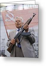 Mikhail Kalashnikov, Russian Gun Designer Greeting Card