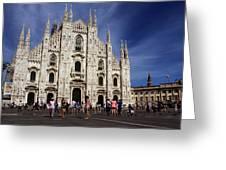 Milan Cathedral Greeting Card by Milan Mirkovic