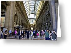 Milan Shopping Mall Greeting Card
