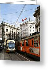 Milan Trolley 4 Greeting Card