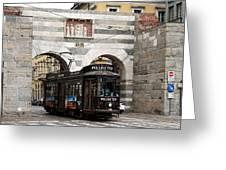Milan Trolley 5 Greeting Card