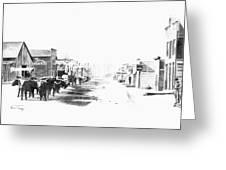 Miles City 1883 Greeting Card