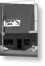 Miles City, Montana - Downtown Bw Greeting Card