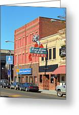 Miles City, Montana - Downtown Casino 2 Greeting Card