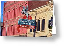 Miles City, Montana - Downtown Casino Greeting Card