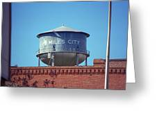 Miles City, Montana - Water Tower Greeting Card