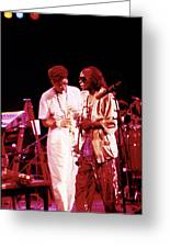 Miles Davis Image 10 And Bob Berg 1985 Your Under Arrest Tour Greeting Card