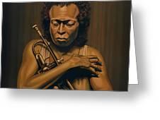 Miles Davis Painting Greeting Card