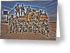 Military Police Pose For This Hdr Image Greeting Card