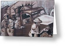 Military Truck Street Art Greeting Card