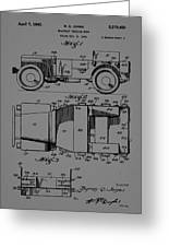 Military Vehicle Body Patent Drawing 1d Greeting Card