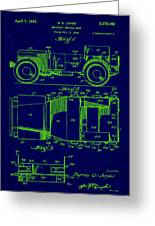 Military Vehicle Body Patent Drawing 1e Greeting Card