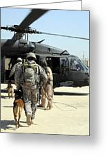 Military Working Dog Handlers Board Greeting Card