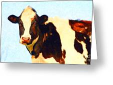 Milk Cow . Photoart Greeting Card by Wingsdomain Art and Photography