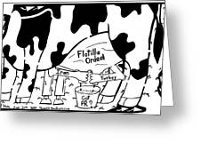 Milking The Flotilla For All Its Worth By Yonatan Frimer Greeting Card